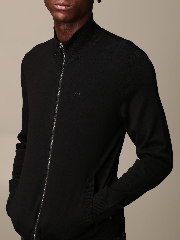 Cardigan Armani Exchange: Full zip basic wool black 3