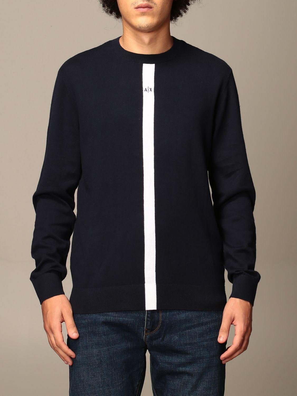 Sweater Armani Exchange: Vertical band logo crewneck blue 1