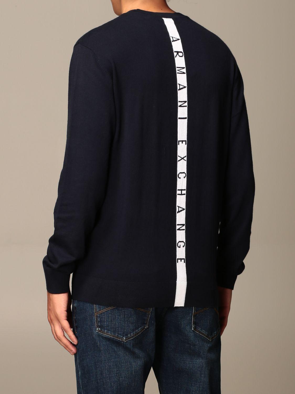 Sweater Armani Exchange: Vertical band logo crewneck blue 2