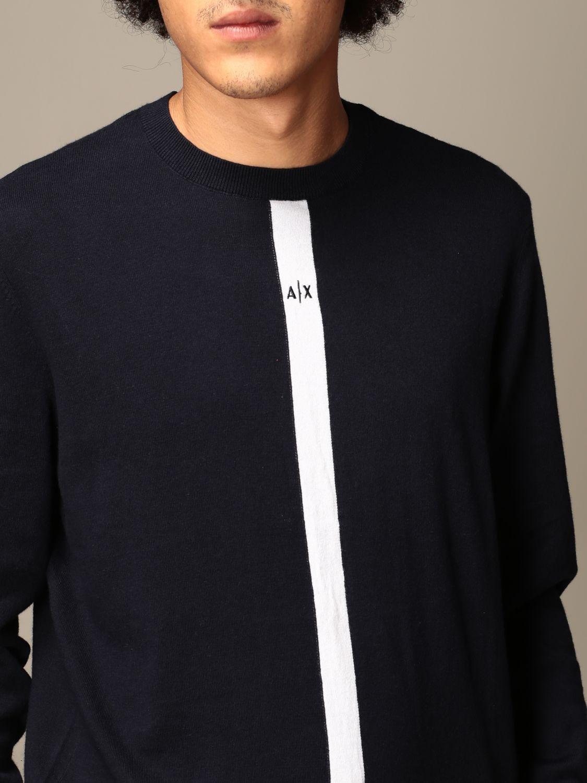 Sweater Armani Exchange: Vertical band logo crewneck blue 3
