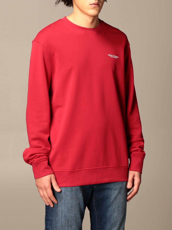 Sweatshirt Armani Exchange: Basic Armani Exchange sweatshirt red 3