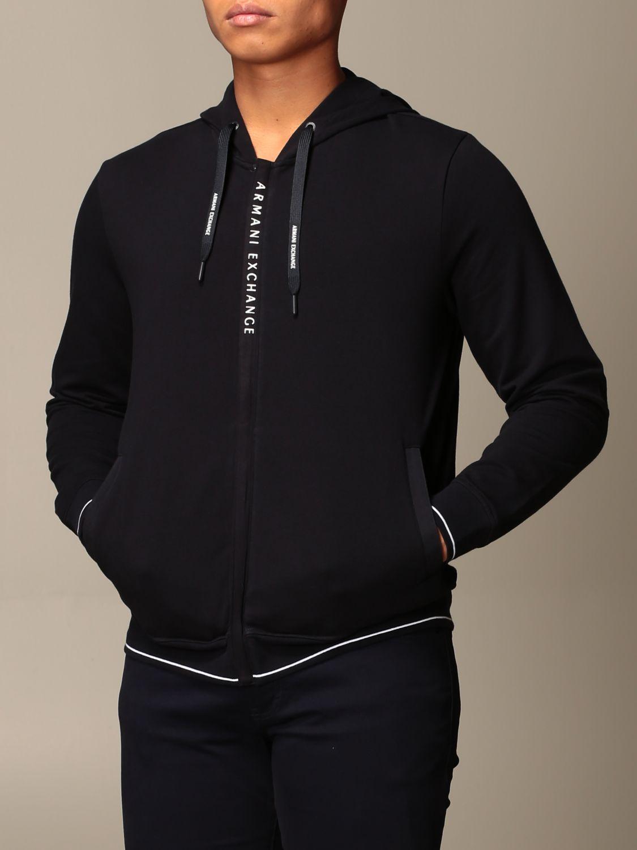 Sweatshirt Armani Exchange: Sweatshirt homme Armani Exchange bleu 4