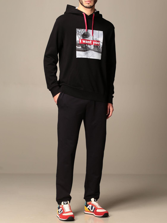Sweatshirt Armani Exchange: Sweatshirt homme Armani Exchange noir 1 2