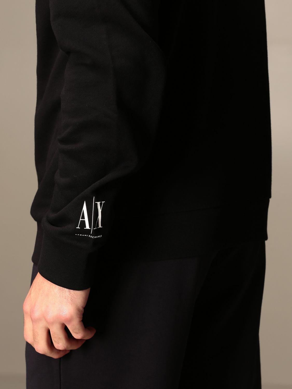 Sweatshirt Armani Exchange: Sweatshirt homme Armani Exchange noir 1 5