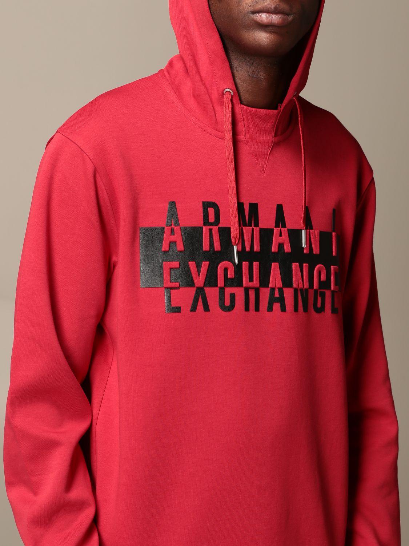 Толстовка Armani Exchange: Толстовка Мужское Armani Exchange красный 4