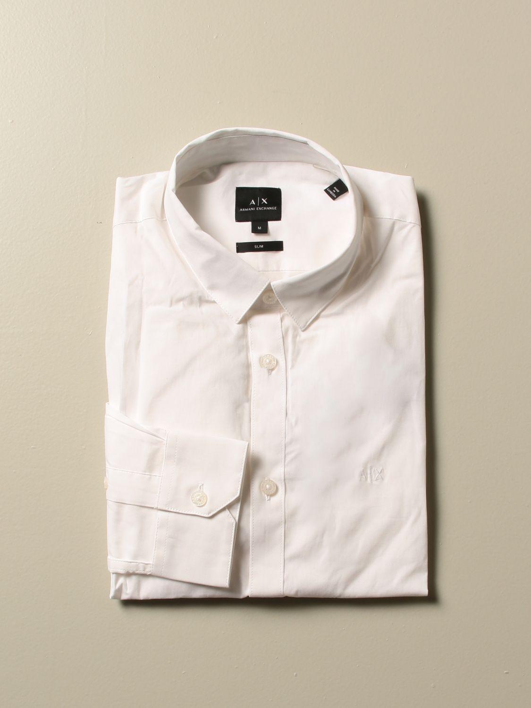 Рубашка Armani Exchange: Рубашка Мужское Armani Exchange белый 1