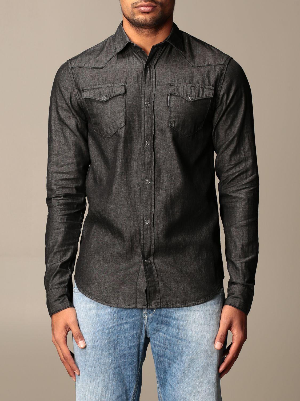 Shirt Armani Exchange: Armani Exchange denim shirt with patch pockets black 1