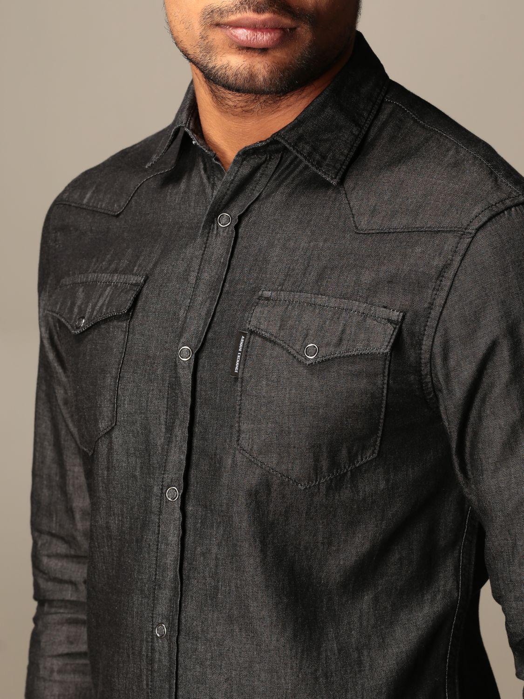 Shirt Armani Exchange: Armani Exchange denim shirt with patch pockets black 3