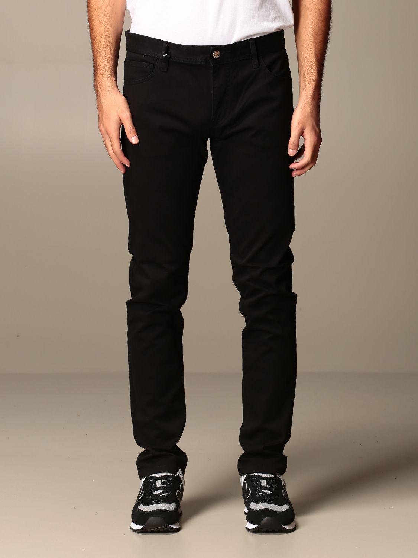 Pantalon Armani Exchange: Pantalon homme Armani Exchange noir 1