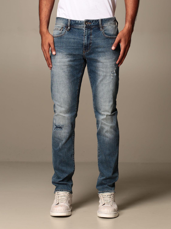 Jeans Armani Exchange: Jeans Armani Exchange in denim stretch con rotture denim 1