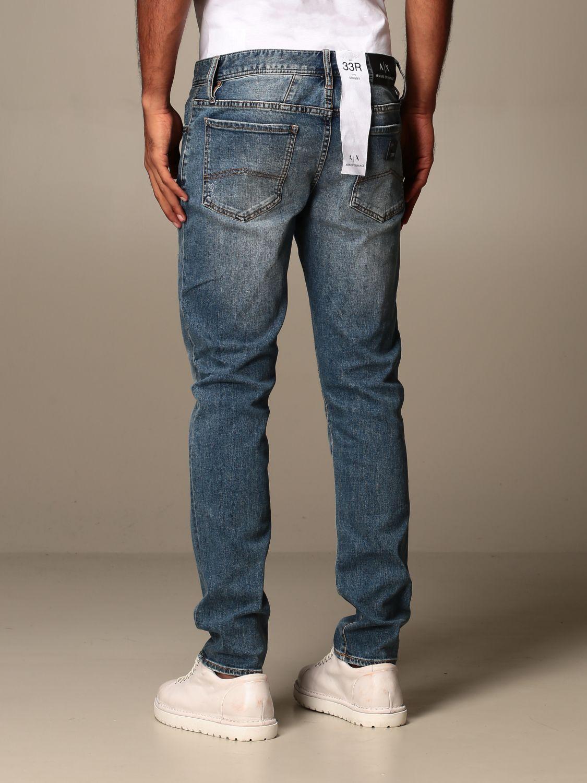 Jeans Armani Exchange: Jeans Armani Exchange in denim stretch con rotture denim 2