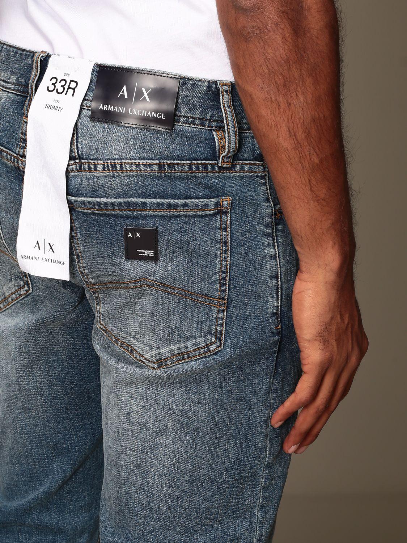 Jeans Armani Exchange: Jeans Armani Exchange in denim stretch con rotture denim 3