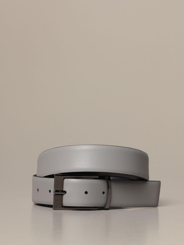 Cintura Armani Exchange: Cintura Armani Exchange in pelle liscia e saffiano reversibile blue 2