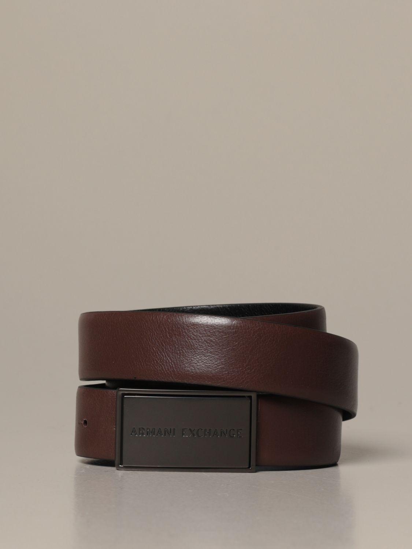 Cintura Armani Exchange: Cintura Armani Exchange in pelle reversibile nero 2