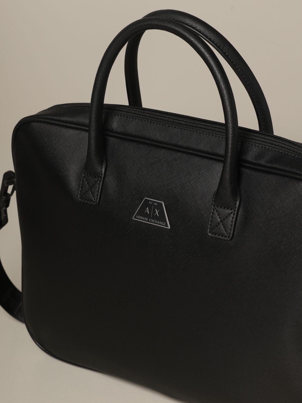 Borsa a tracolla Armani Exchange: Venitiquattrore Armani Exchange in pelle saffiano sintetica nero 3