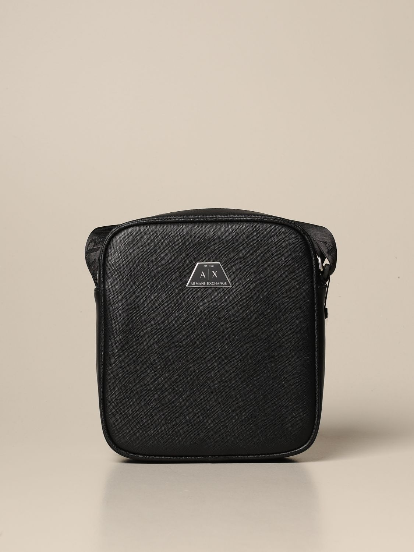 Shoulder bag Armani Exchange: Bags men Armani Exchange black 1