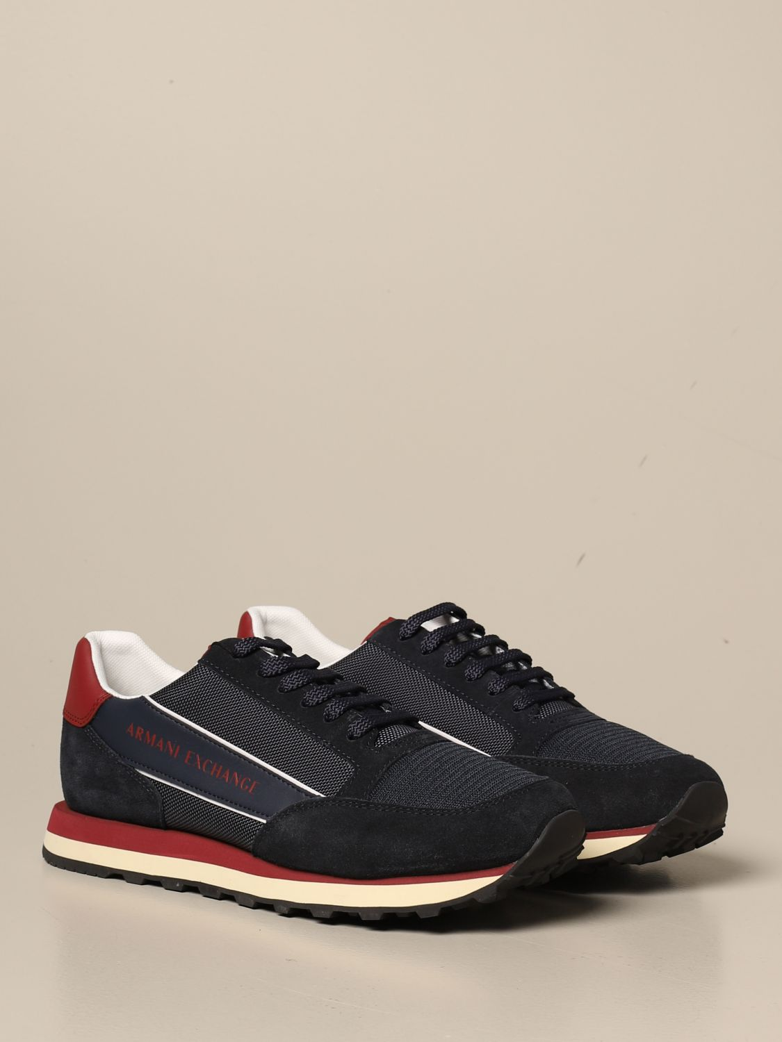 Sneakers Armani Exchange: Armani Exchange sneakers in suede and fabric blue 2