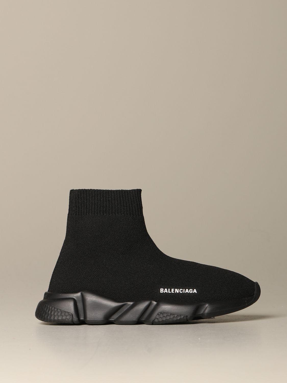 Scarpe Balenciaga: Sneakers Speed Balenciaga a calza con suola monocolore nero 1