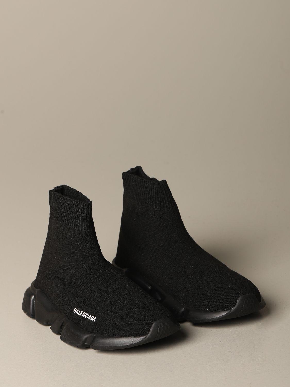 Scarpe Balenciaga: Sneakers Speed Balenciaga a calza con suola monocolore nero 2