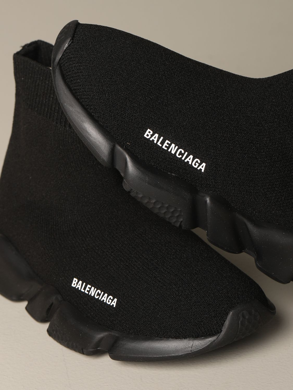 Scarpe Balenciaga: Sneakers Speed Balenciaga a calza con suola monocolore nero 4