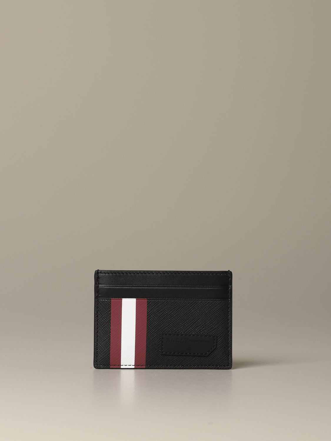 Wallet Bally: Bhar.of Bally credit card holder in coated canvas with trainspotting red 2
