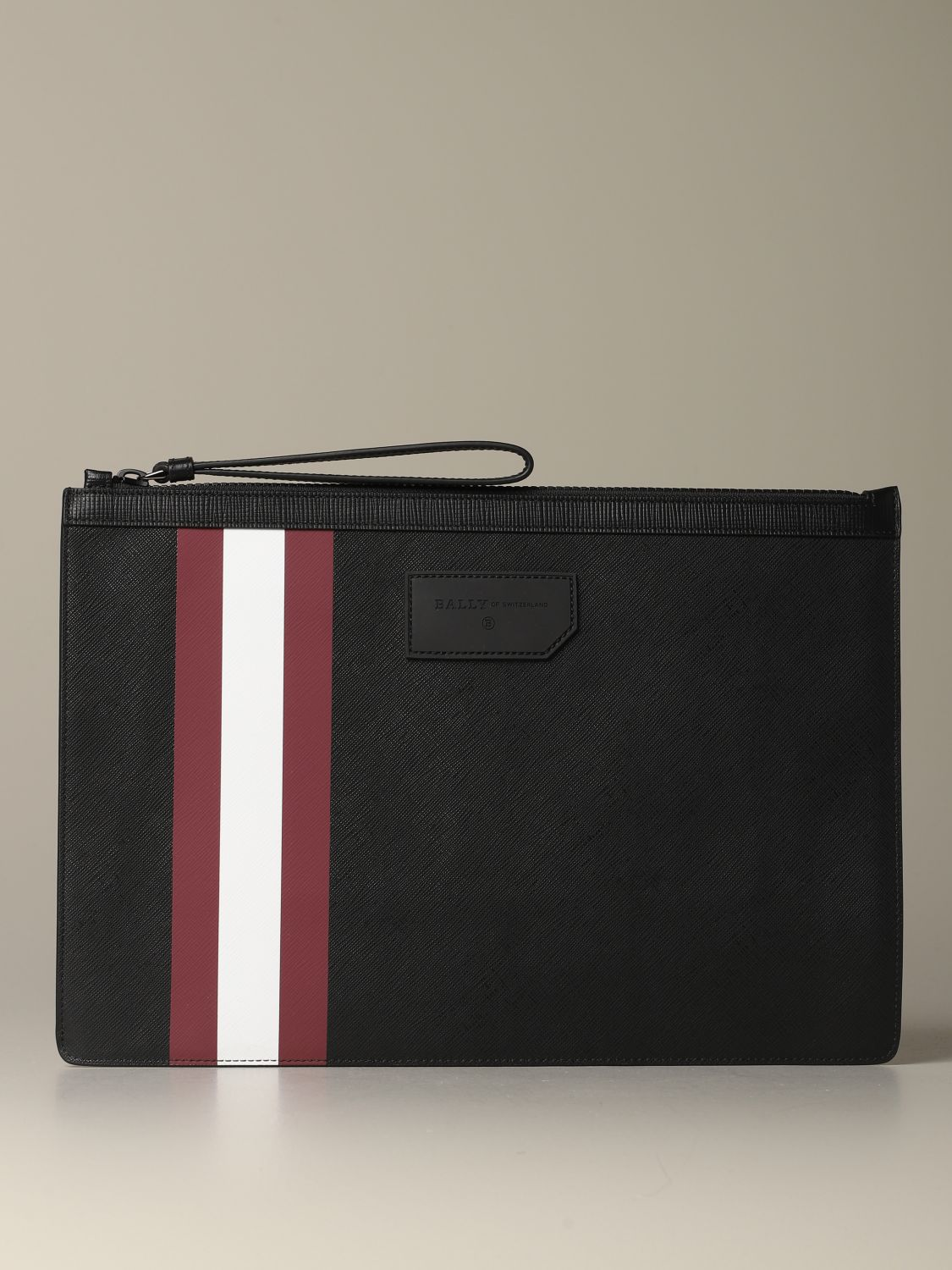 Briefcase Bally: Bollis Bally pouch in coated canvas with trainspotting red 1