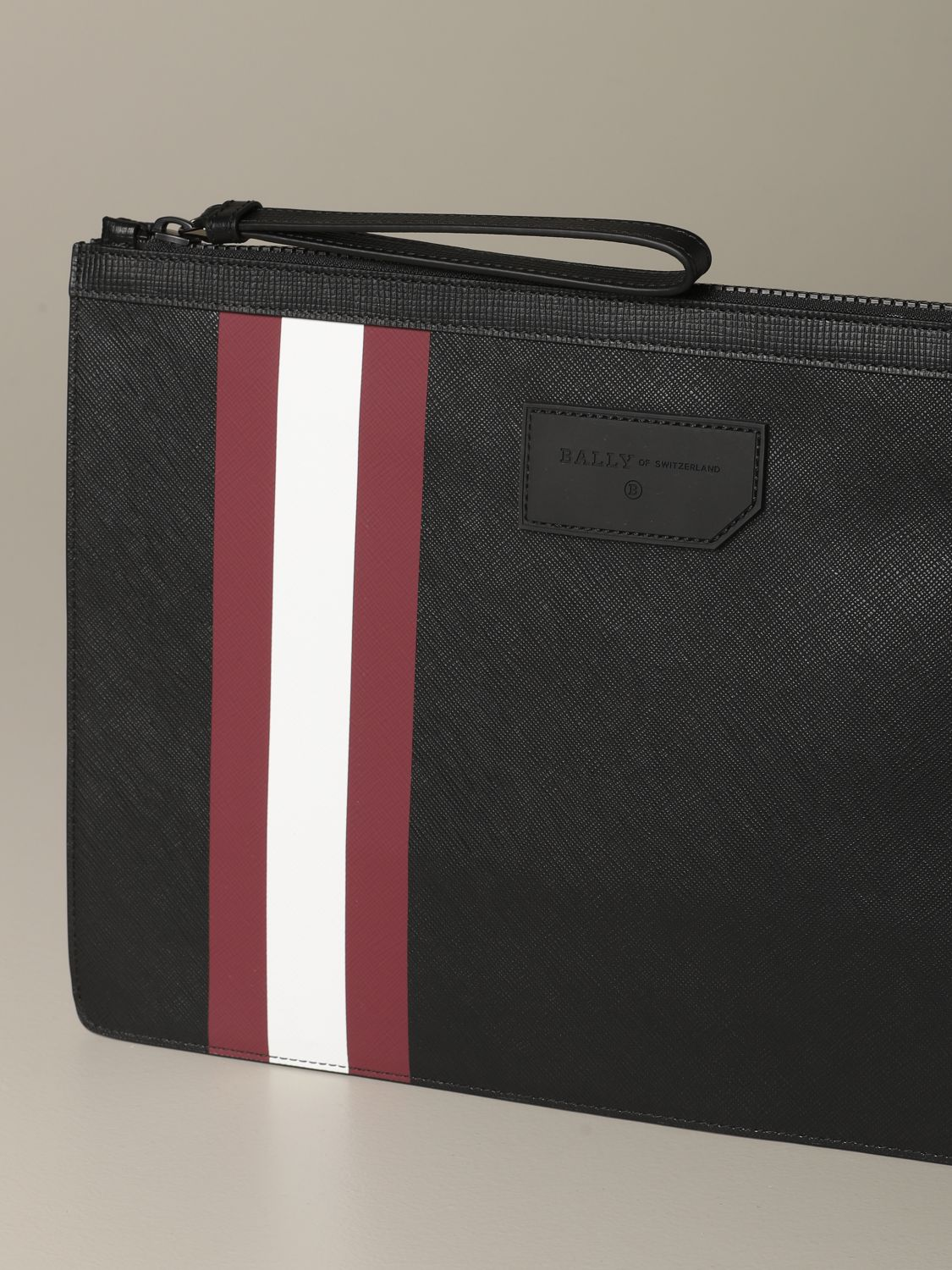Briefcase Bally: Bollis Bally pouch in coated canvas with trainspotting red 3