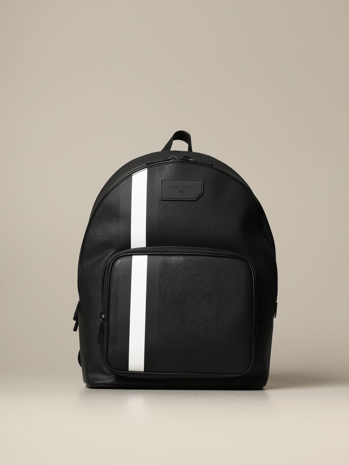 Backpack Bally: Sarkis Bally backpack in synthetic leather with trainspotting canvas band black 1
