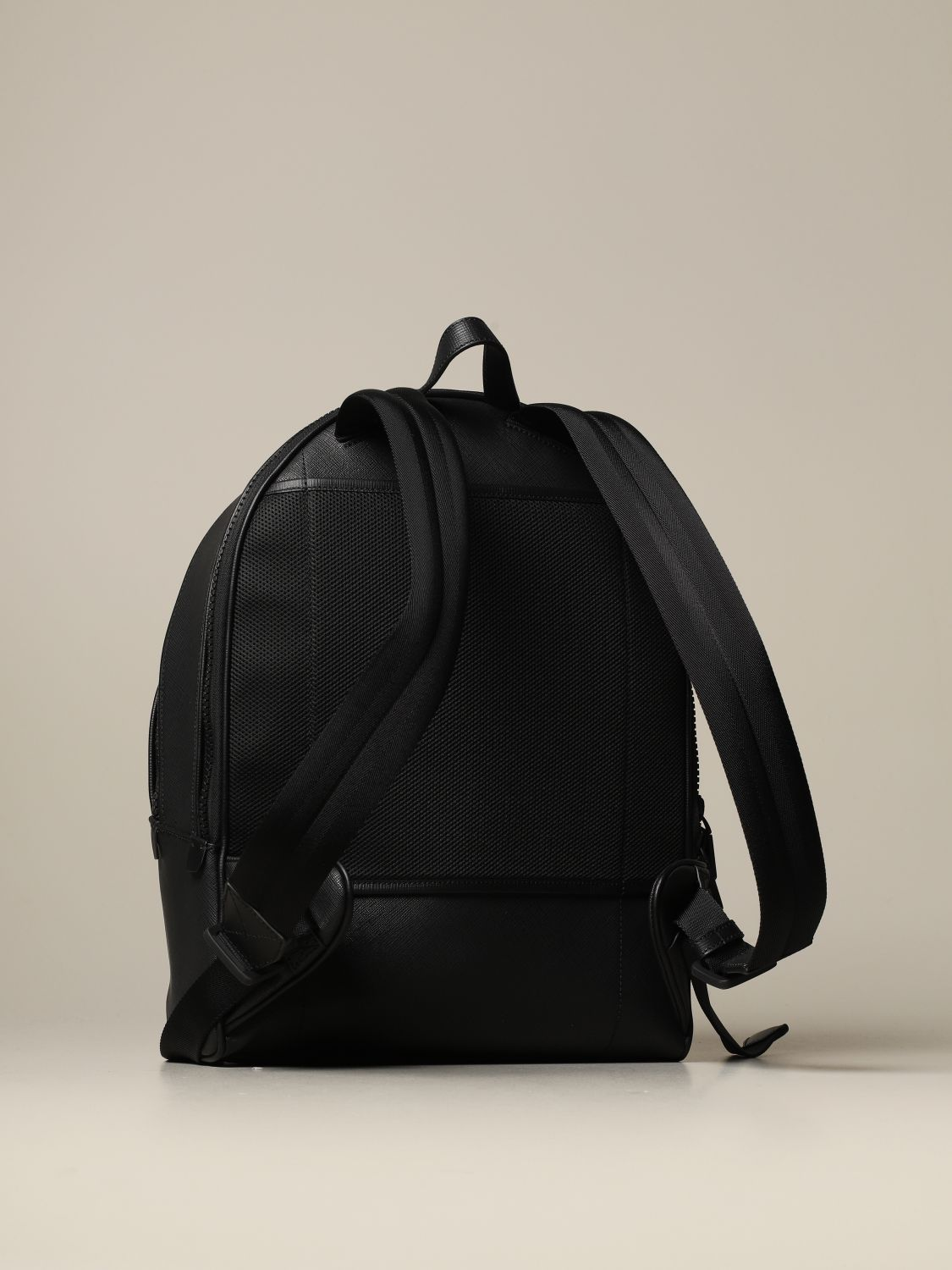 Backpack Bally: Sarkis Bally backpack in synthetic leather with trainspotting canvas band black 2