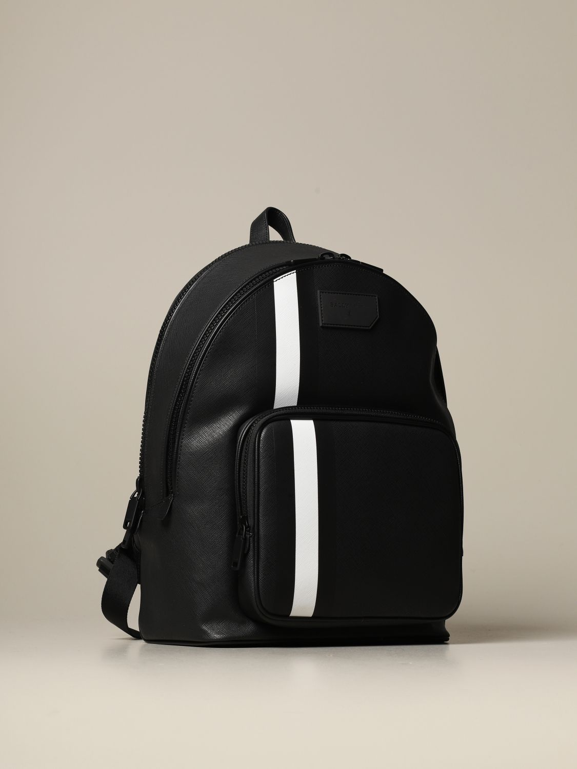 Backpack Bally: Sarkis Bally backpack in synthetic leather with trainspotting canvas band black 3