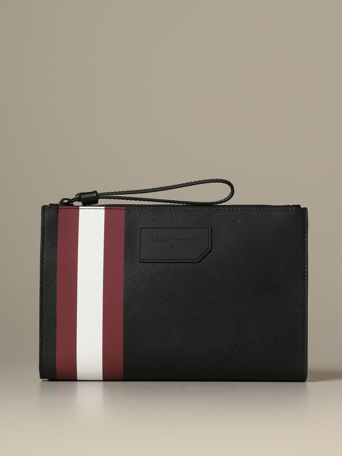 Briefcase Bally: Skid Bally clutch bag in coated canvas with trainspotting red 1