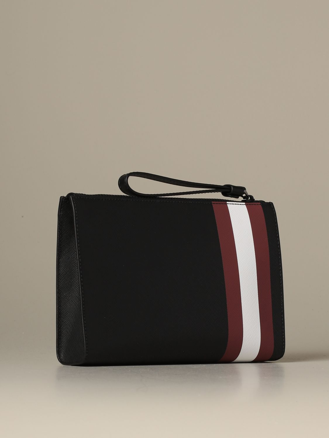 Briefcase Bally: Skid Bally clutch bag in coated canvas with trainspotting red 2
