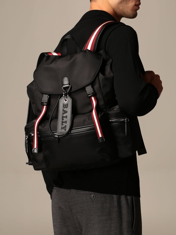 Zaino Bally: Zaino Crew Bally in nylon con fascia trainspotting nero 2