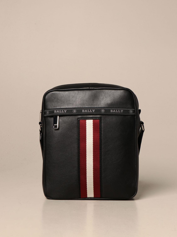 Shoulder bag Bally: Holm Bally leather bag with trainspotting band black 1