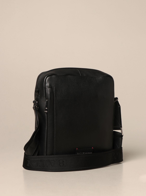 Shoulder bag Bally: Holm Bally leather bag with trainspotting band black 2