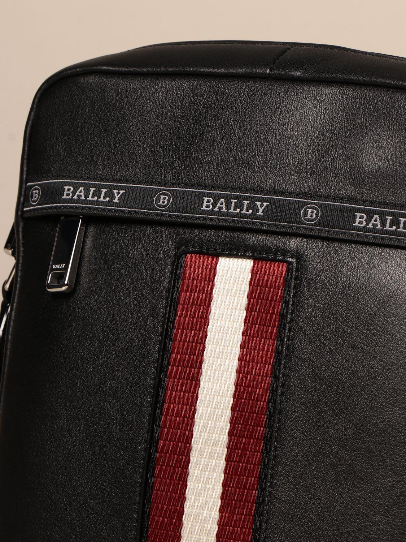 Shoulder bag Bally: Holm Bally leather bag with trainspotting band black 3