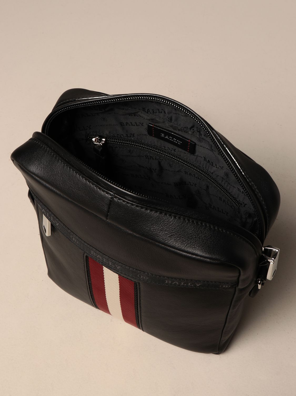 Shoulder bag Bally: Holm Bally leather bag with trainspotting band black 4