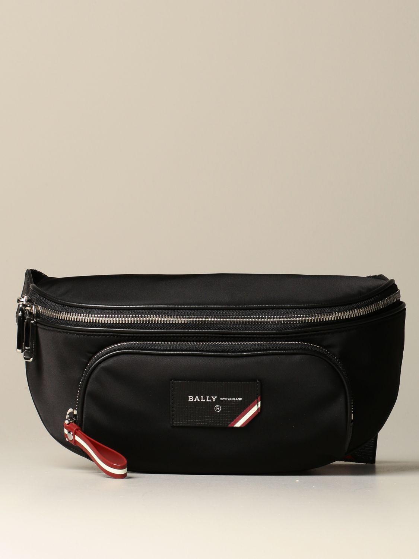 Belt bag Bally: Finlei Bally nylon pouch with trainspotting shoulder strap black 1
