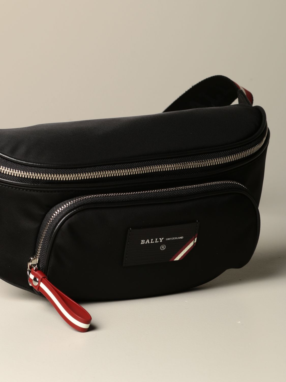 Belt bag Bally: Finlei Bally nylon pouch with trainspotting shoulder strap black 3