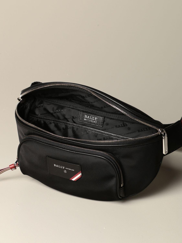 Belt bag Bally: Finlei Bally nylon pouch with trainspotting shoulder strap black 4