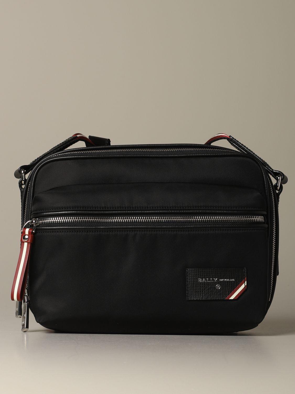 Shoulder bag Bally: Figj shoulder bag Bally in nylon with trainspotting shoulder strap black 1