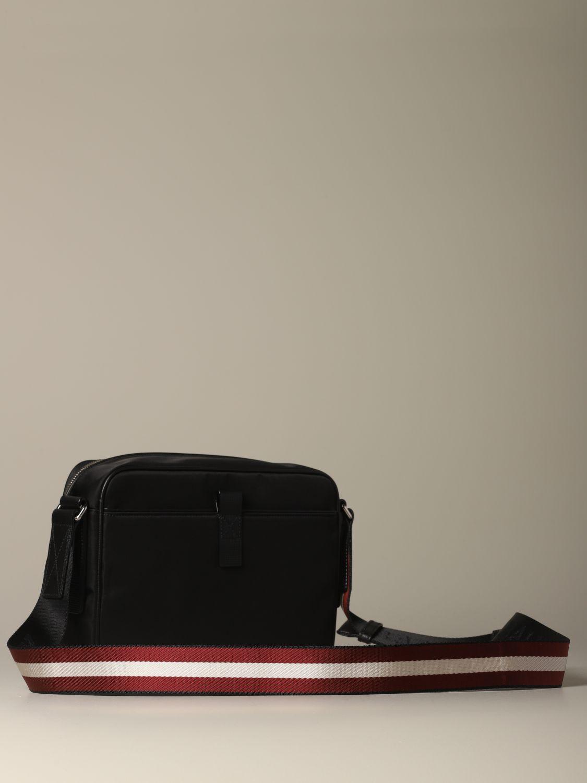 Shoulder bag Bally: Figj shoulder bag Bally in nylon with trainspotting shoulder strap black 2