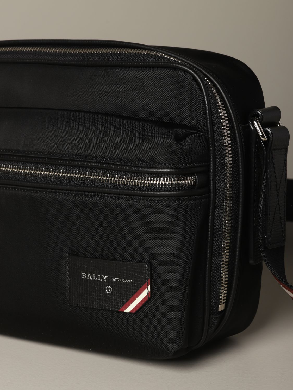 Shoulder bag Bally: Figj shoulder bag Bally in nylon with trainspotting shoulder strap black 3