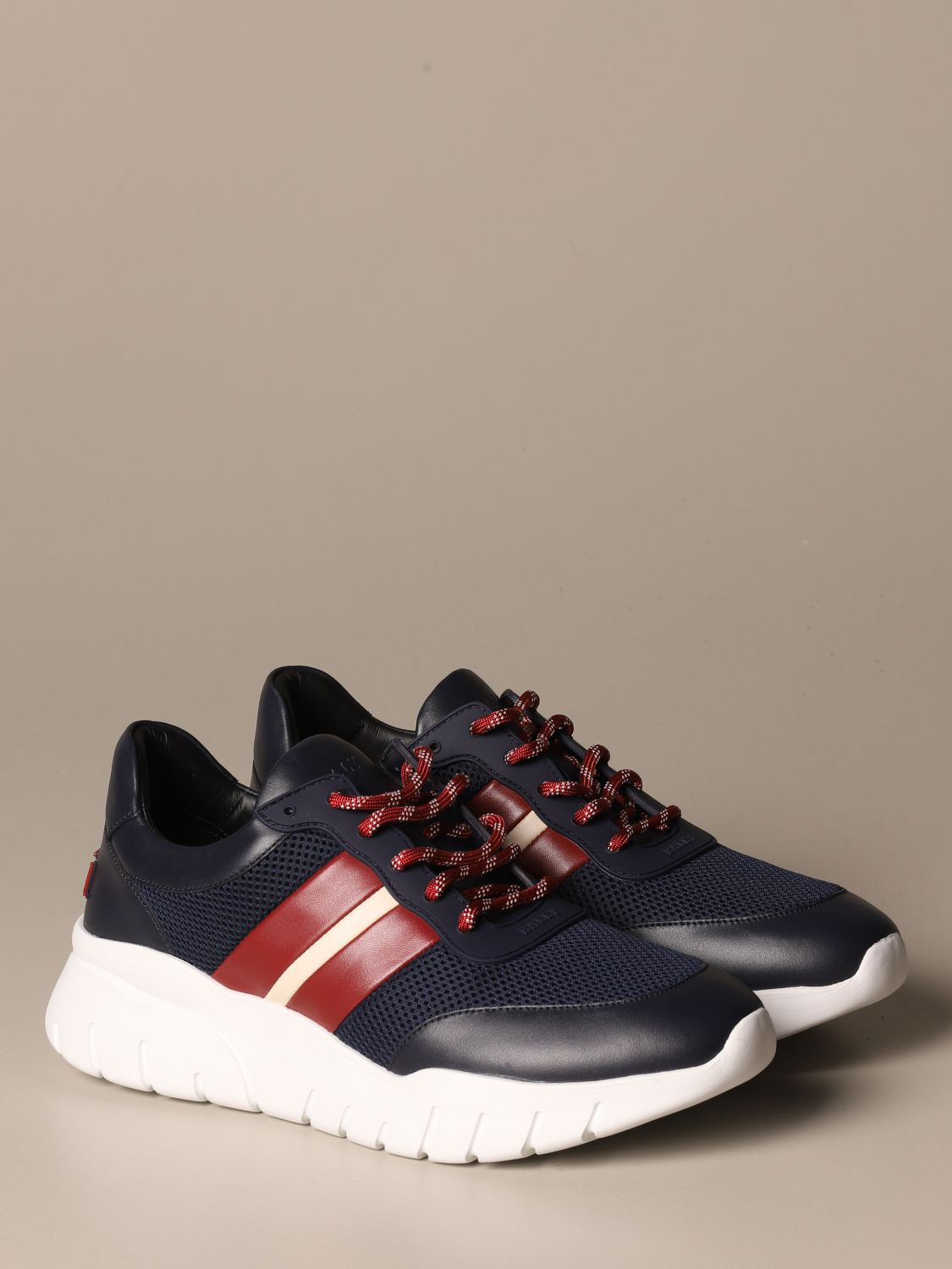 Sneakers Bally: Byllet Bally sneakers in leather with trainspotting logo blue 2