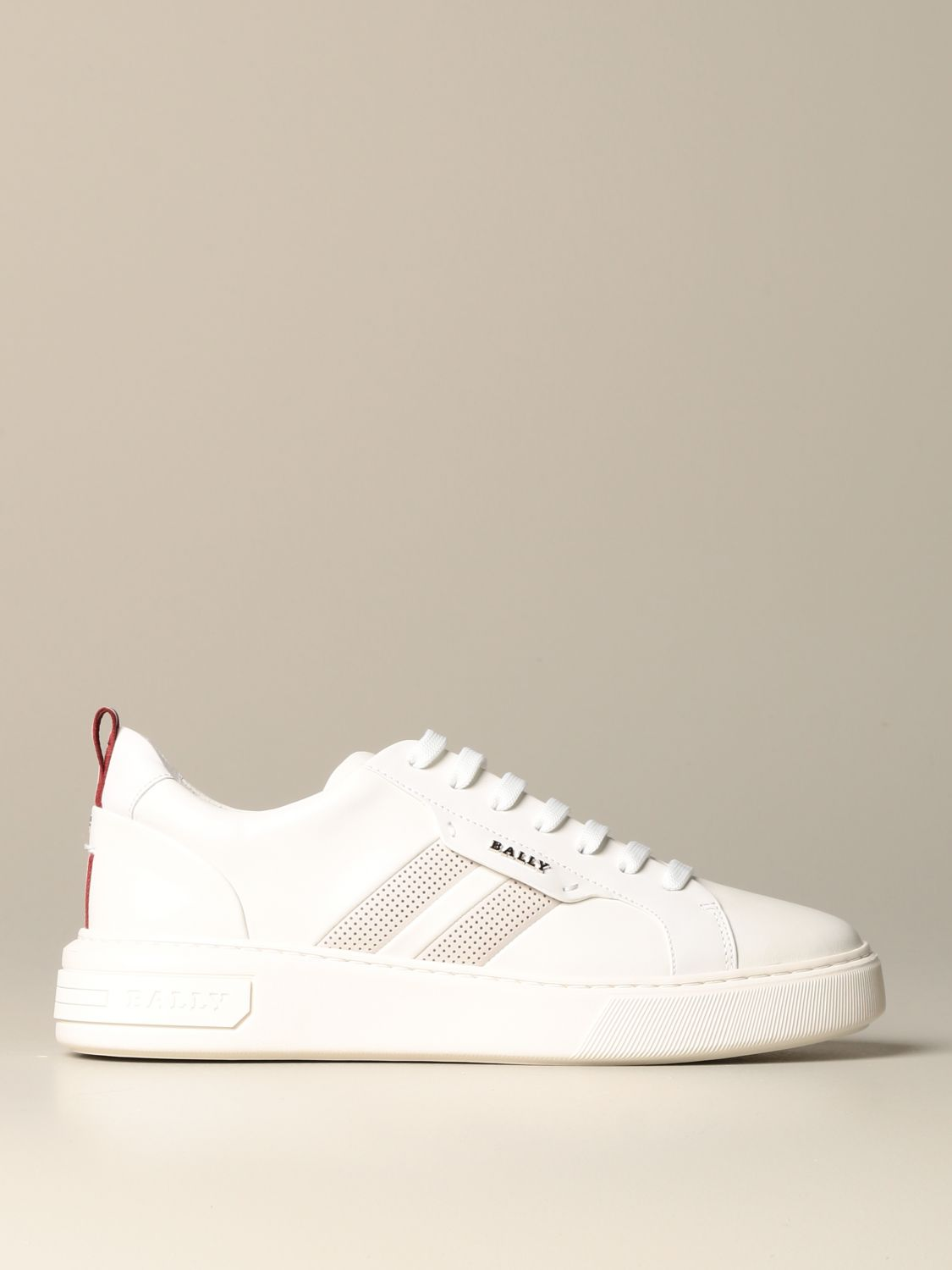 Sneakers Bally: Maxim Bally sneakers in leather with trainspotting band white 1