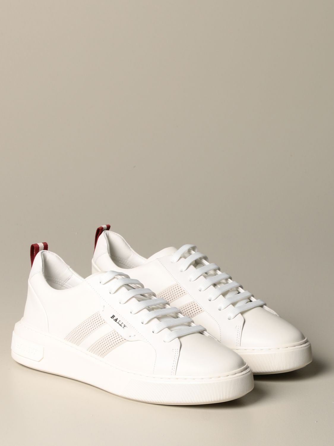 Sneakers Bally: Maxim Bally sneakers in leather with trainspotting band white 2