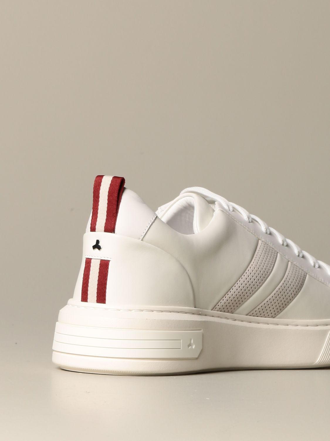 Sneakers Bally: Maxim Bally sneakers in leather with trainspotting band white 3