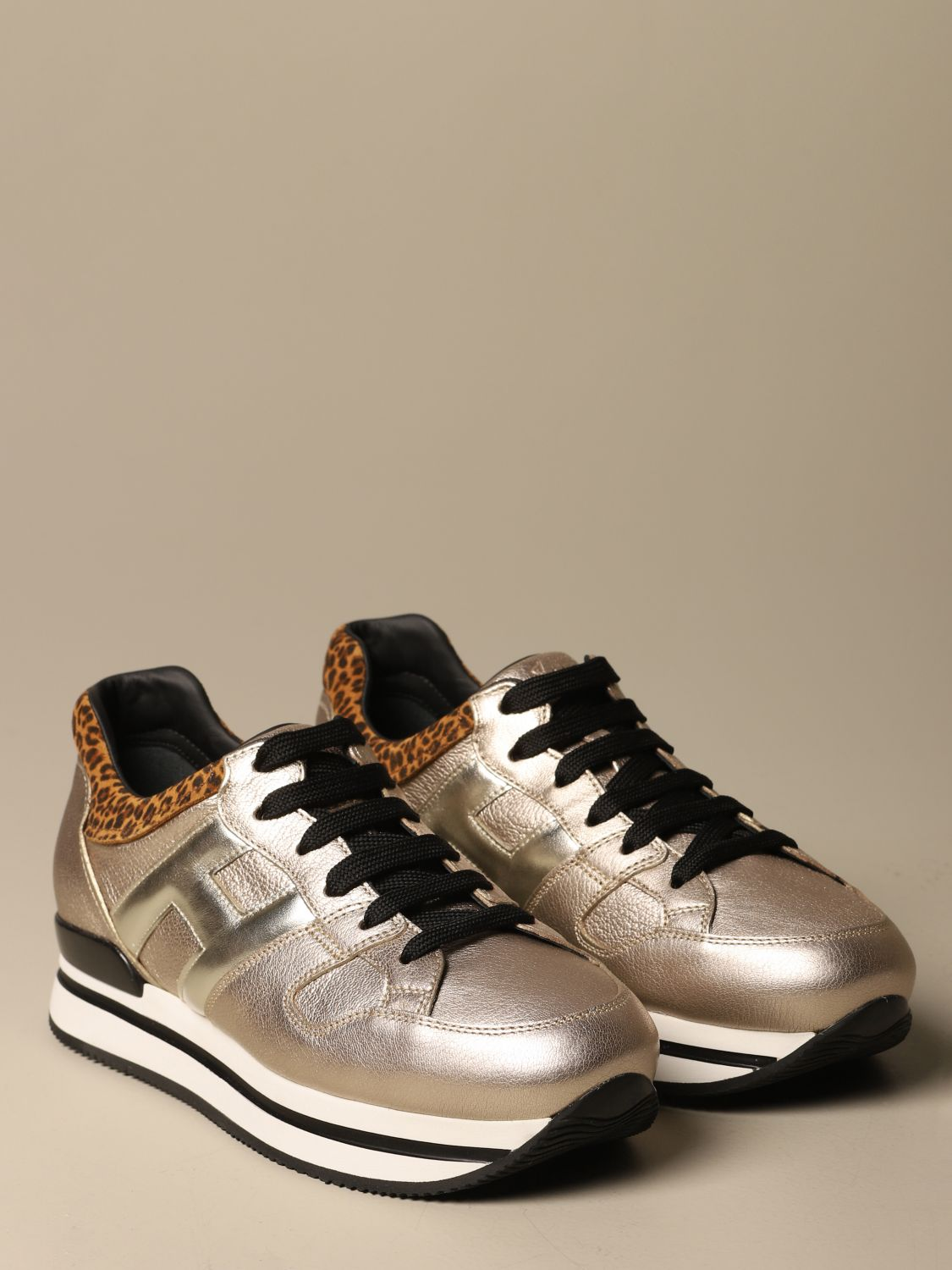 H222 Hogan running laminated leather sneakers
