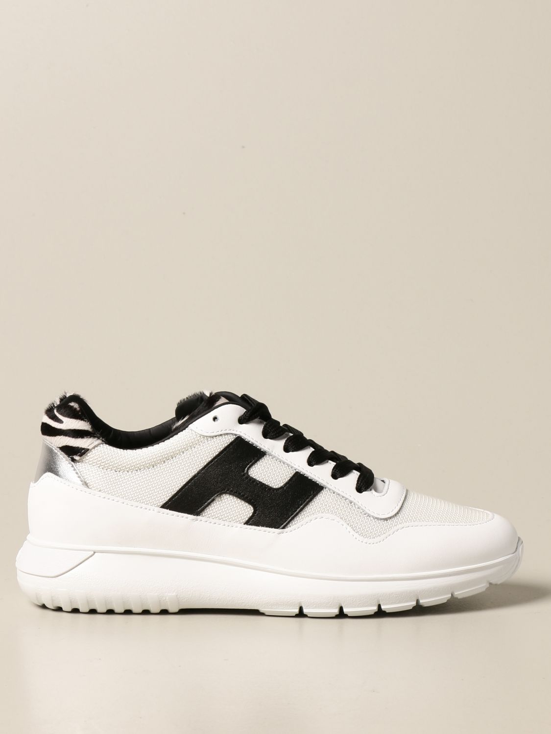 Interactive3 Hogan sneakers in leather and chevron fabric