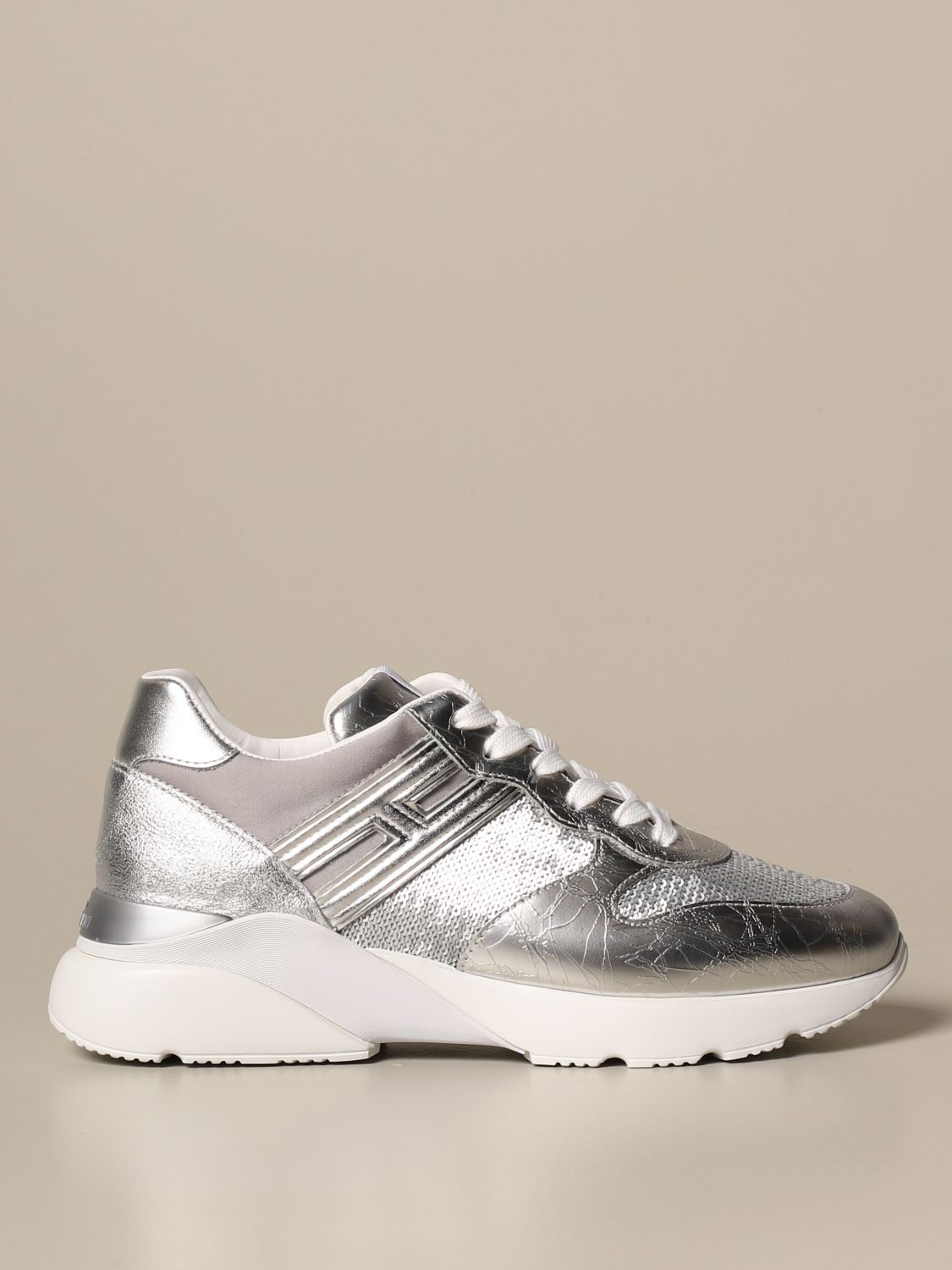 Active One Hogan laminated leather sneakers